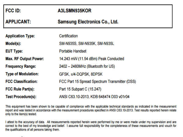 Galaxy Note 7R gets FCC certification