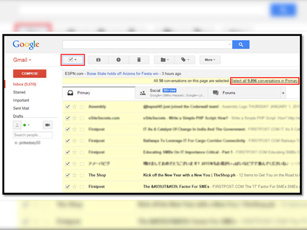 how to get to archive mail on gmail