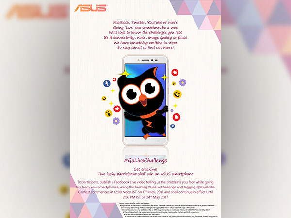 ASUS initiated #GoLiveChallenge today; Win an Asus smartphone