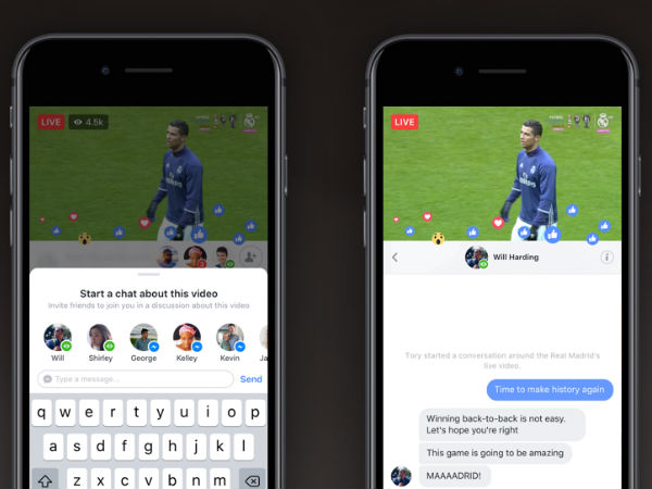 Facebook Live update on Android and iOS lets you chat privately