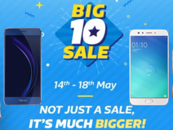 Flipkart Big 10 Sale Day: best offers on smartphones this summer