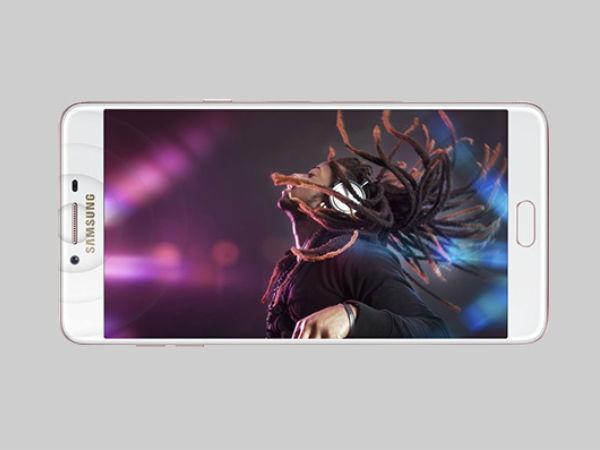 Galaxy C10 cutout reveals dual rear camera setup and Bixby button