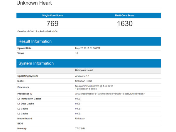 Alleged Nokia 9 with 8GB of RAM Spotted on Geekbench
