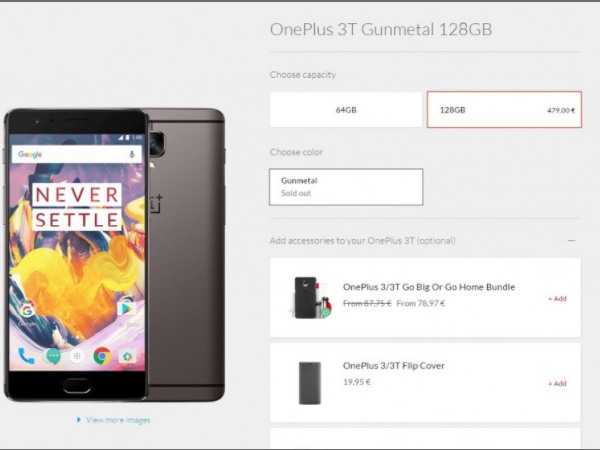 OnePlus 3T 128GB is just sold out and not discontinued