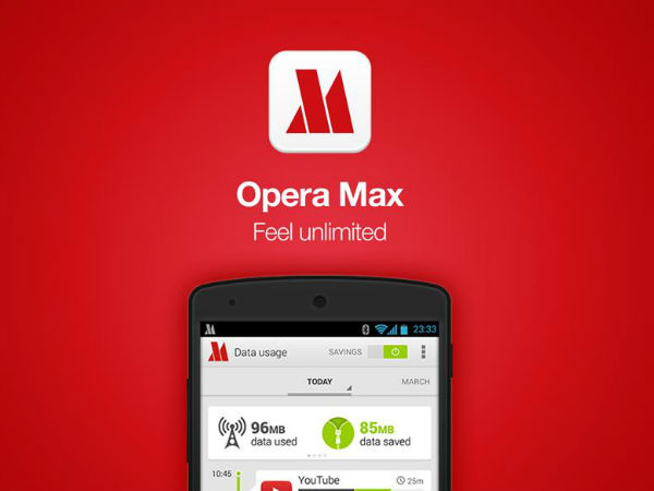 Opera Max 3.0 will offer you data saving tips for Facebook