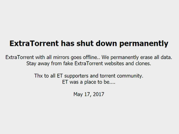 Popular torrent site ExtraTorrent shuts down permanently