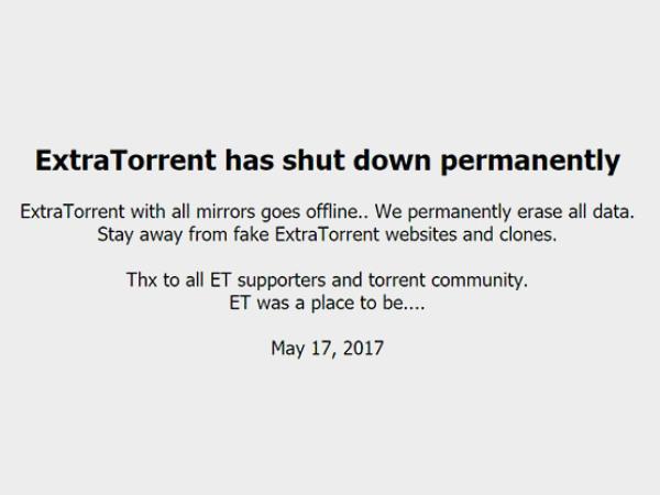 Popular torrent site ExtraTorrent shuts down permanently