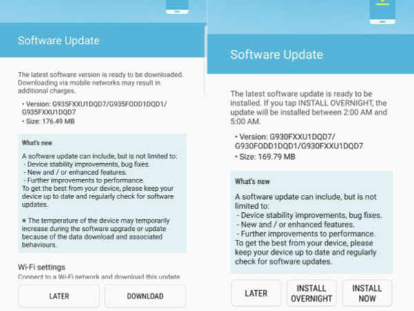 Samsung Galaxy S7/S7 edge and Note 5 new update released in India