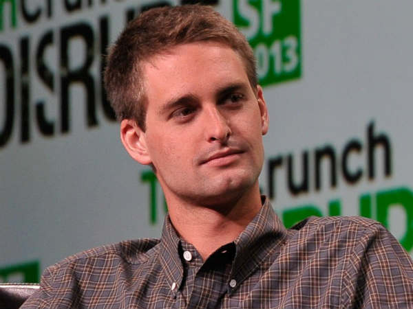 Snapchat CEO doesn't see Facebook as a threat