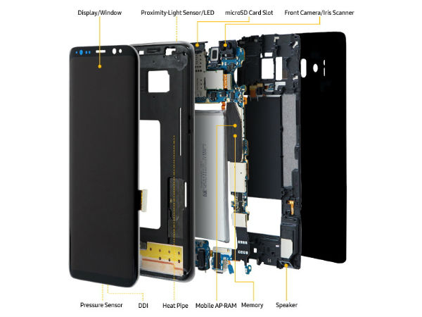 Teardown of Samsung Galaxy S8 and S8 Plus shows what's inside