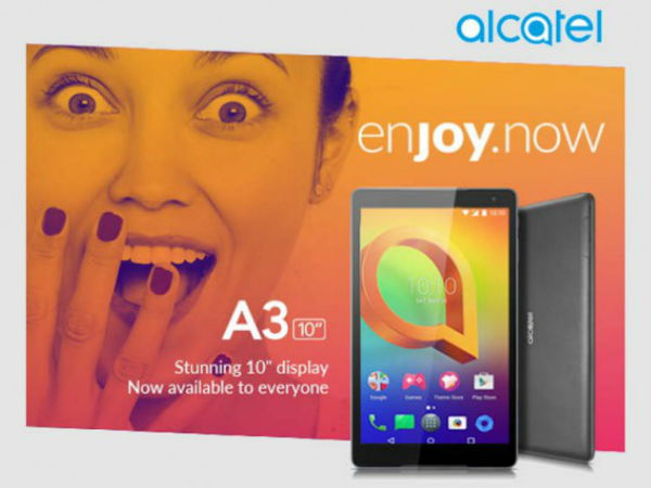 Alcatel A3 10 with Android 7.0 Nougat launched at Rs. 9,999