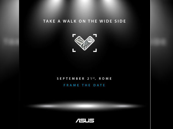 Asus ZenFone 4V with wide-angle camera lens to launch on September 21