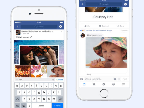 Facebook now lets you add GIFs in comments