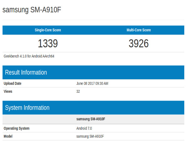 Samsung Galaxy A9 Pro to receive Android Nougat update soon