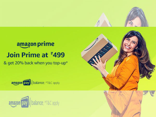Get Amazon Prime subscription at just Rs. 200 for a year