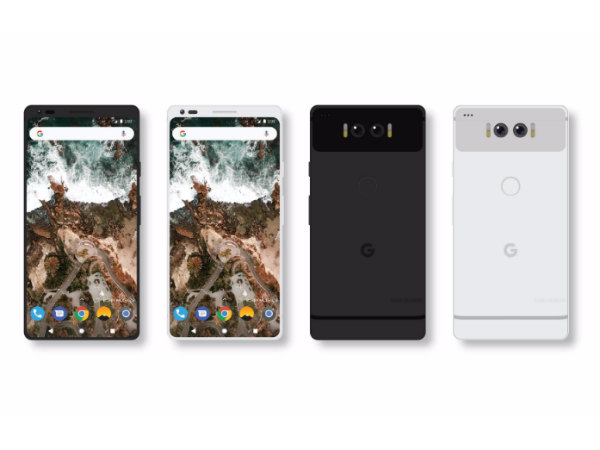 Google Pixel 2 render shows near bezel-less display, dual rear cameras