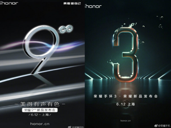 Huawei Honor 9 and Honor Band 3 to be unveiled on June 12