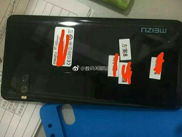Meizu Pro 7 live image leaks showing dual lens rear camera
