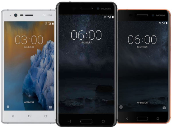 Nokia 6, Nokia 5, Nokia 3 to be available soon in India