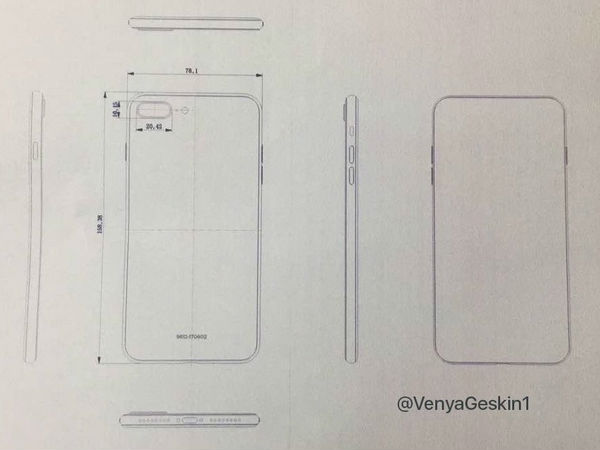 Purported schematics of the iPhone 8 and iPhone 7s Plus leaked