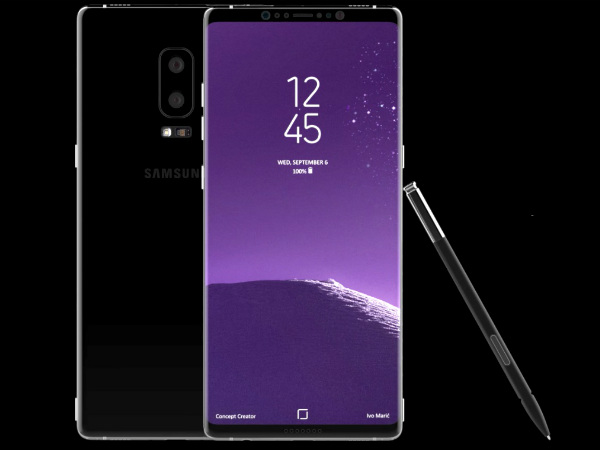 Samsung Galaxy Note 8 not coming with an embedded fingerprint scanner