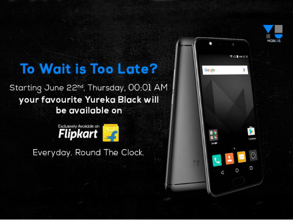 Yureka Black to go on open sale from 22nd June onwards on Flipkart