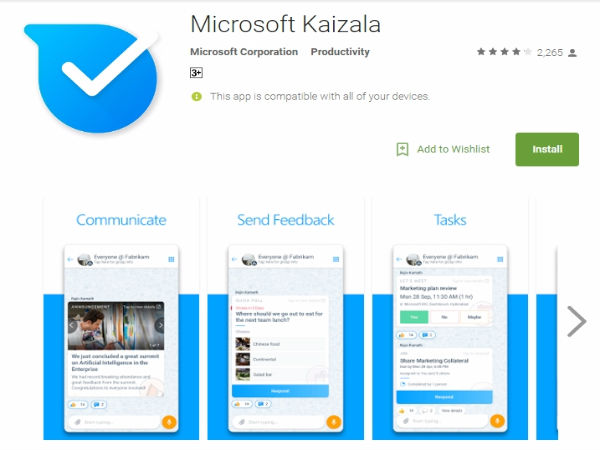 Microsoft unveils Kaizala app in India