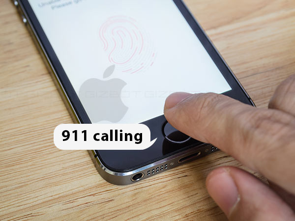 Apple patents secret 911 calling feature with fingerprint
