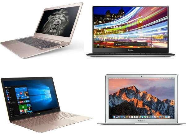 Best Ultraportable Laptops of 2017: Thin and Slim laptops Apple Macbook, Lenovo, Dell, Asus, Acer