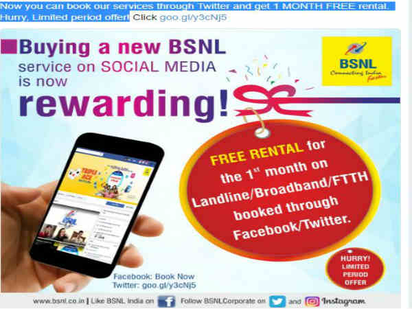 Now you can book services through Twitter and FB: BSNL