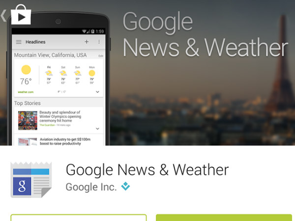 Google News & Weather app updated with enhanced UI and more