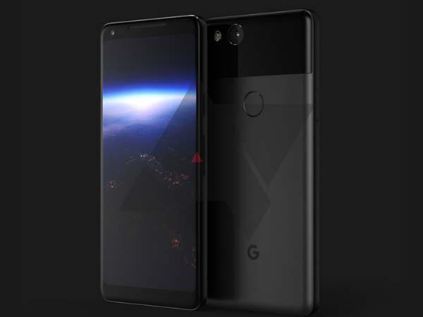 Google Pixel XL 2 render hints at a near bezel-less design