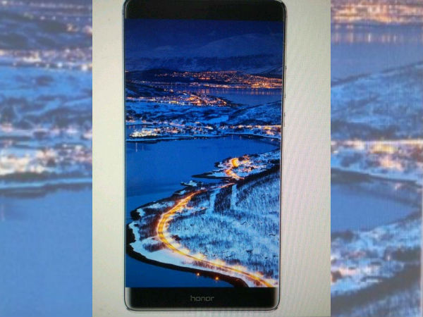 Honor Note 9 leaked image hints at bezel-less full screen display