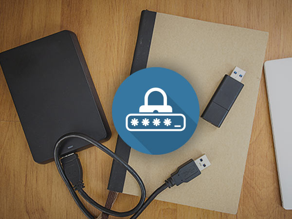 How to enable password protection on internal drives
