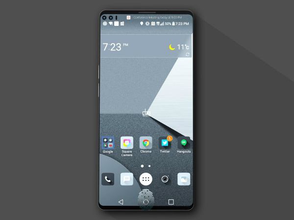 LG V30 Floating Bar to Replace Secondary Screen