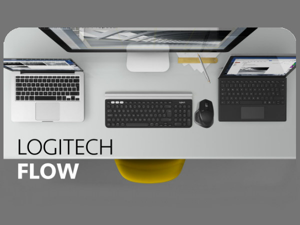 Logitech Flow allows users to control 3 computers with 1 mouse