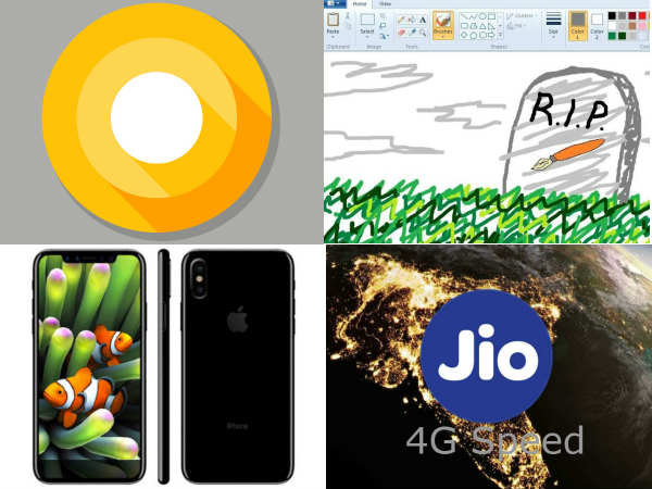Microsoft Paint, Jio 4G, Galaxy Note 8, Redmi Note 4 Explode, iPhone 8 specs, Pixel 2: Round-Up