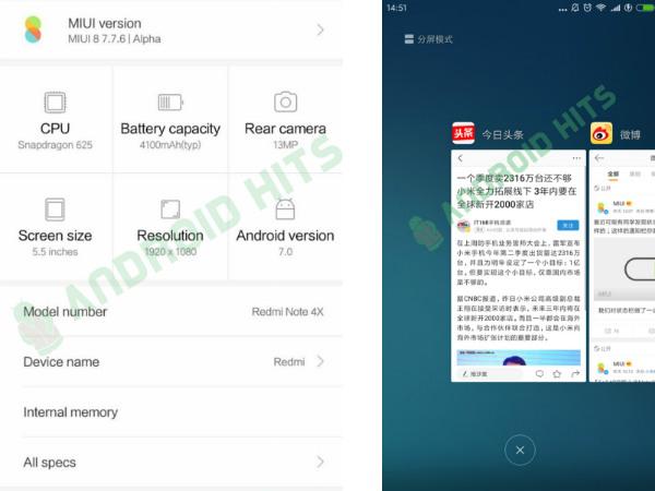 MIUI 9 Alpha screenshots running on Xiaomi Redmi 4X leak
