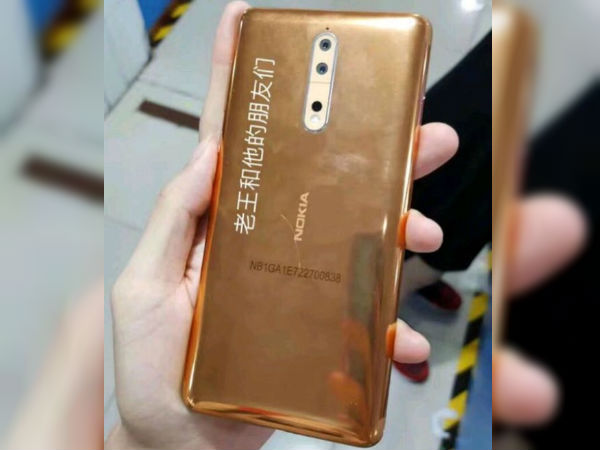 Nokia 8 now spotted in Gold-Copper color; have a look
