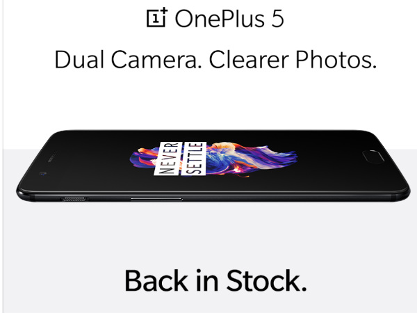 OnePlus 5 Midnight Black 8GB+128GB variant  is back in stock