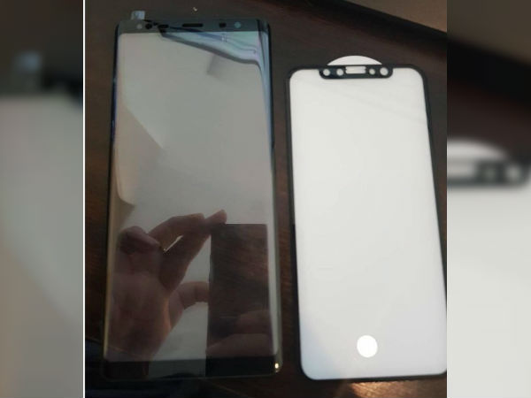 Samsung Galaxy Note 8 and iPhone 8 front panels leaked online