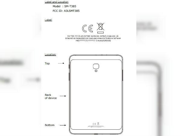Samsung Galaxy Tab A 8.0 (2017) passes through the FCC
