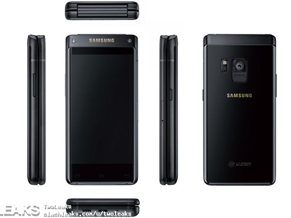 Samsung's upcoming high-end flip phone leaks in press render