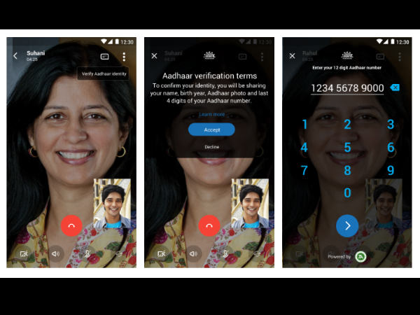 Aadhaar integration now available on Skype Lite