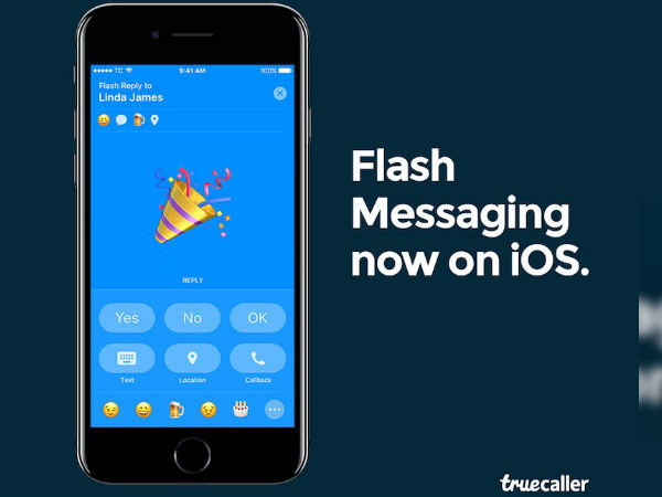 Truecaller finally adds 'Flash Messaging' feature for its iOS users