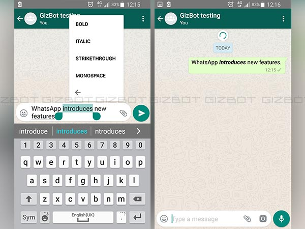 WhatsApp lets you search for emoji and customize font type easily