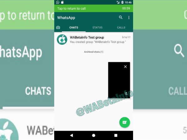 Picture-in-picture mode spotted in WhatsApp