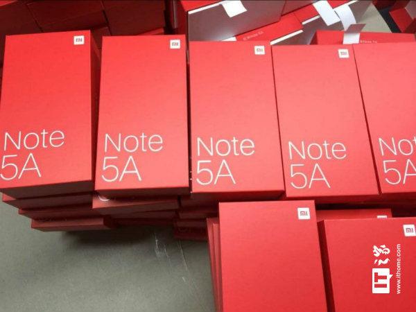 Xiaomi Redmi Note 5A retail box image hits the web