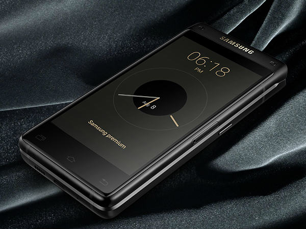 Samsung launches high-end dual-screened Android flip phone