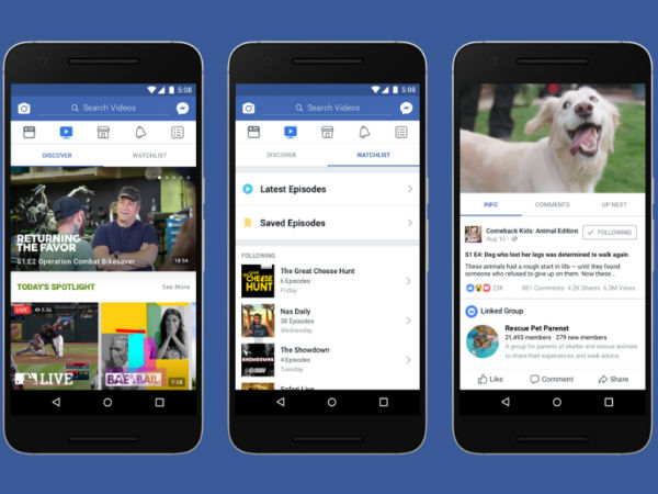 Facebook Watch is an exclusive video platform
